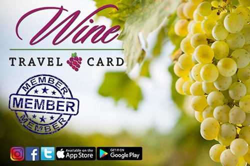 Wine Travel Card. Click here for information on how to become a member.  Photo of grapes.